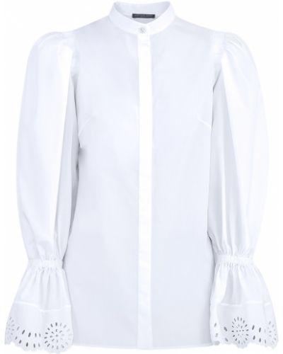 Блузка с пышными рукавами с воротником-стойкой Alexander Mcqueen