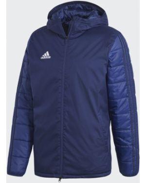 Футбольная спортивная теплая белая зимняя куртка Adidas