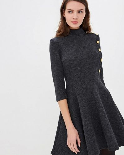 Платье серое вязаное Mirasezar