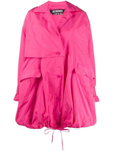 Klasyczny różowy płaszcz z długimi rękawami Jacquemus