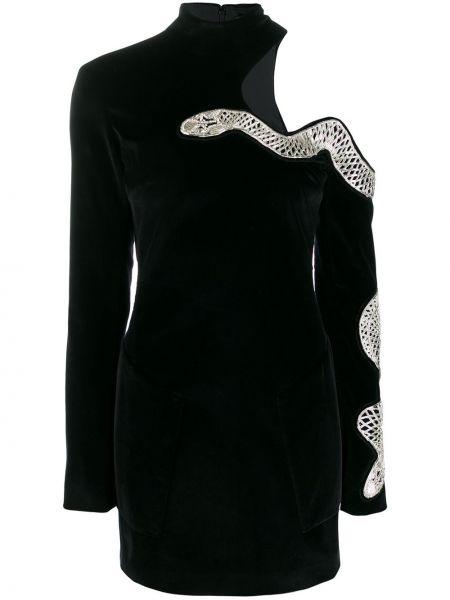 Sukienka mini dla wysokich kobiet z długim rękawem David Koma