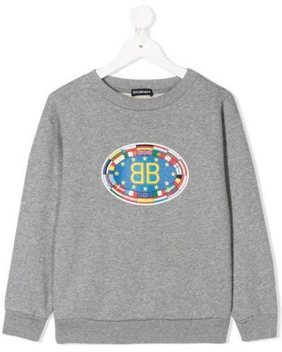 Szary sweter Balenciaga