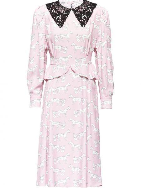Платье на пуговицах на молнии Miu Miu