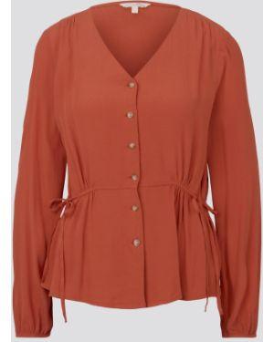Оранжевая блузка Tom Tailor