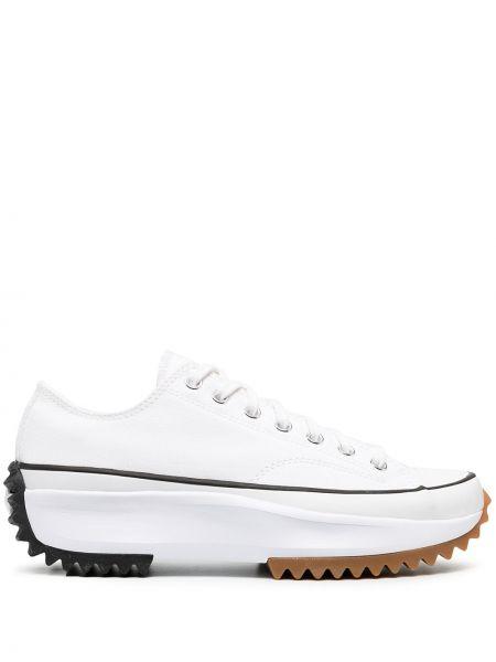 Кеды на платформе - белые Converse