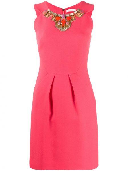 Приталенное платье мини - розовое Matthew Williamson