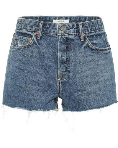 Джинсовые шорты с завышенной талией синий Grlfrnd