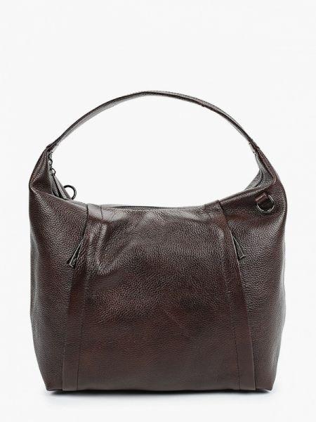 Коричневая кожаная сумка из натуральной кожи Valensiy
