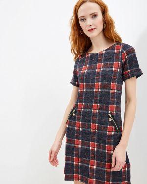 Платье прямое красный Yumi