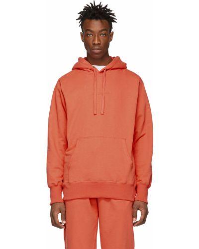 Pomarańczowa bluza długa z kapturem z długimi rękawami Aime Leon Dore