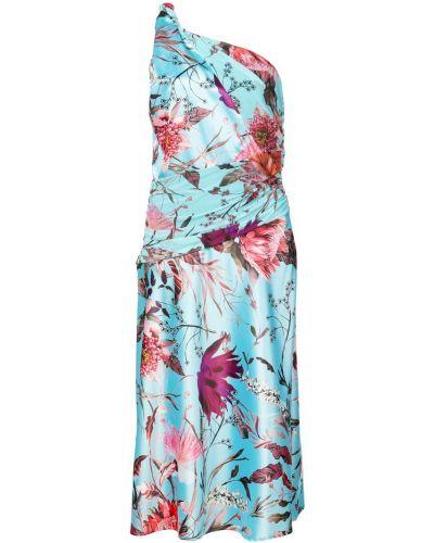 Платье миди с цветочным принтом со складками Fuzzi