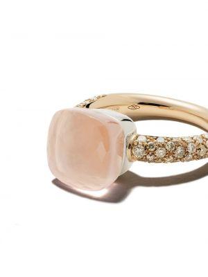 Кольцо с бриллиантом - розовое Pomellato