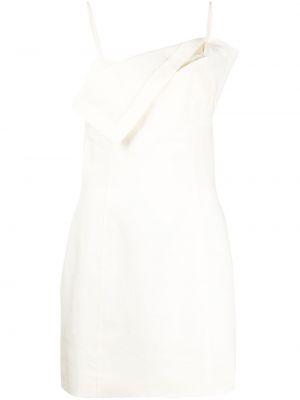 Открытое бежевое платье мини с открытой спиной Jacquemus