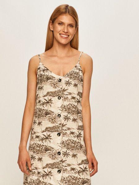 Платье с V-образным вырезом - белое Volcom