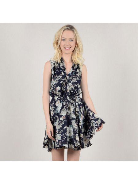 Платье мини с цветочным принтом с V-образным вырезом Molly Bracken
