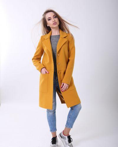 Повседневное желтое пальто до середины колена Sergio Cotti