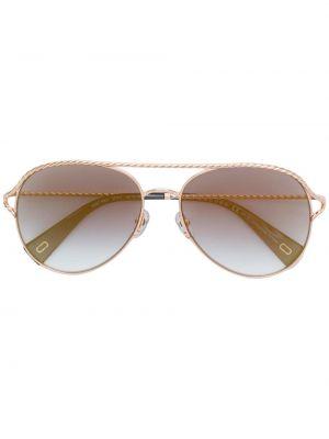 Желтые солнцезащитные очки металлические Marc Jacobs Eyewear
