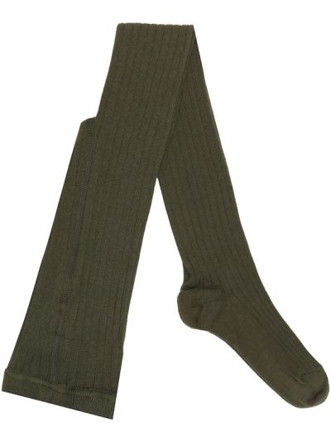 Зеленые ватные хлопковые теплые носки Caramel