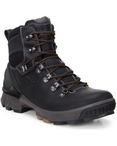 Треккинговые ботинки на шнуровке осенние Ecco