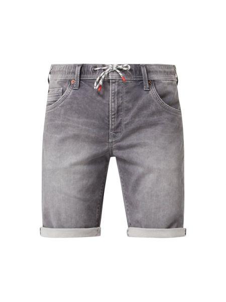 Bawełna dżinsowe szorty z paskami z wiskozy elastyczny Pepe Jeans