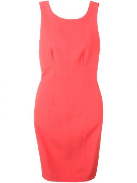 Шелковое розовое платье без рукавов Capucci