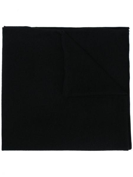 Вязаный кашемировый черный шарф вязаный Allude