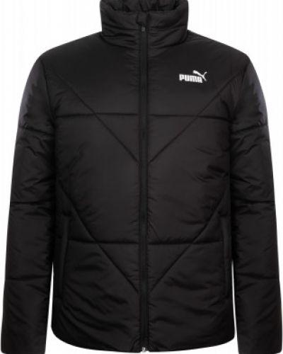 Черная утепленная куртка на молнии Puma