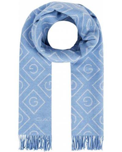 Niebieska szal wełniana Gant