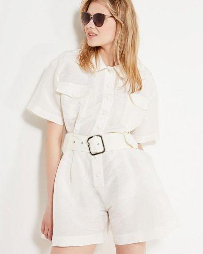 Комбинезон с шортами белый Laroom
