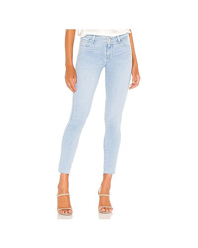 Хлопковые джинсы-скинни на молнии скинни Paige