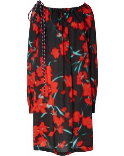 Платье с цветочным принтом с вырезом Dries Van Noten