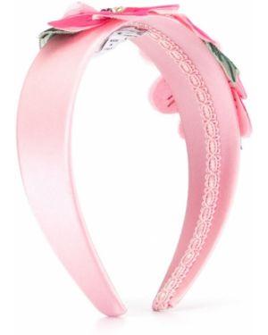 Обруч розовый Dolce & Gabbana Kids