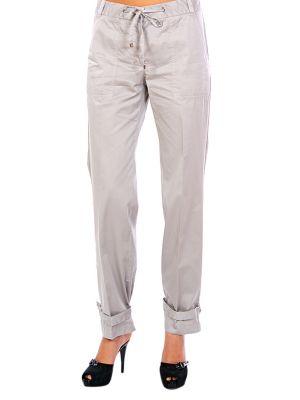 Хлопковые брюки - серые Cerruti 18crr81