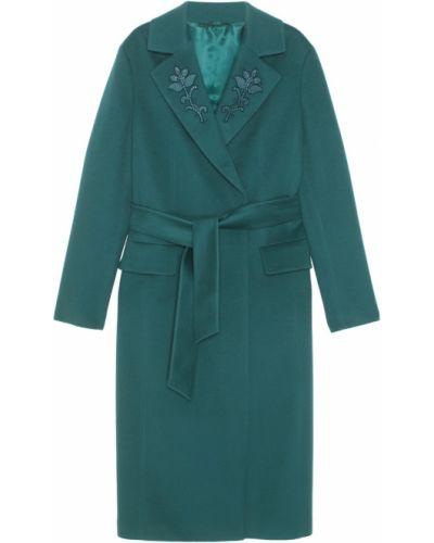 Кашемировое пальто - зеленое Alena Akhmadullina
