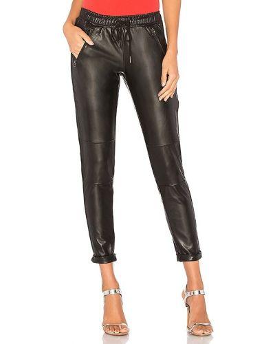 Классические брюки с манжетами - черные David Lerner