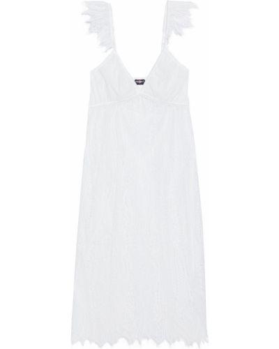 Biała satynowa koszula nocna koronkowa Cosabella