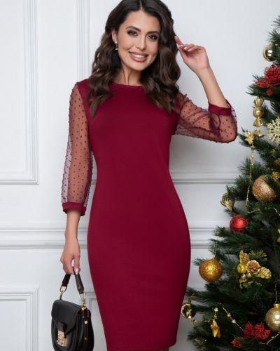 Облегающее с рукавами вечернее платье с вырезом Belluche
