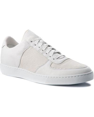 Skórzany sneakersy biały Gino Rossi