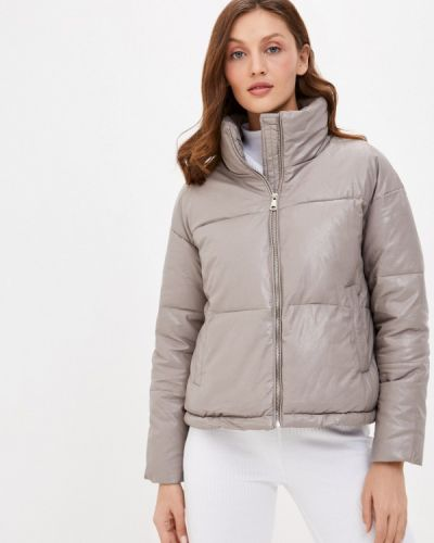 Утепленная серая кожаная куртка Fadjo