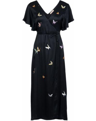 Платье с запахом с декольте Twin-set