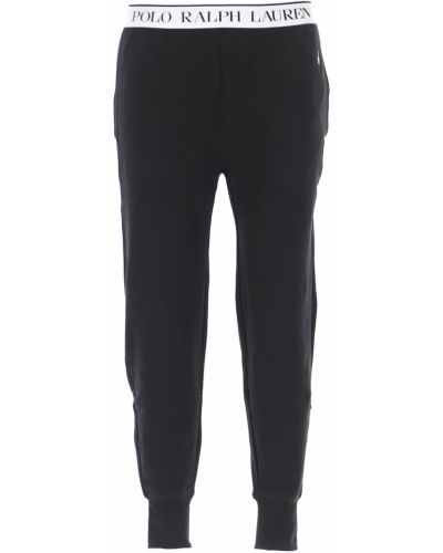 Czarna piżama bawełniana Ralph Lauren