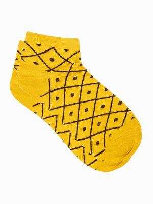 Skarpety bawełniane - żółte Edoti