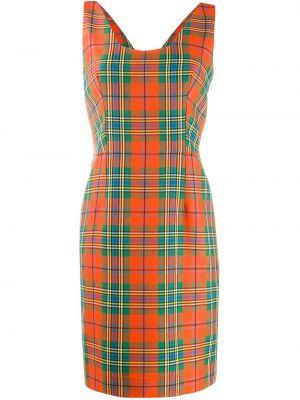 Приталенное шелковое платье мини винтажное с воротником Christian Dior
