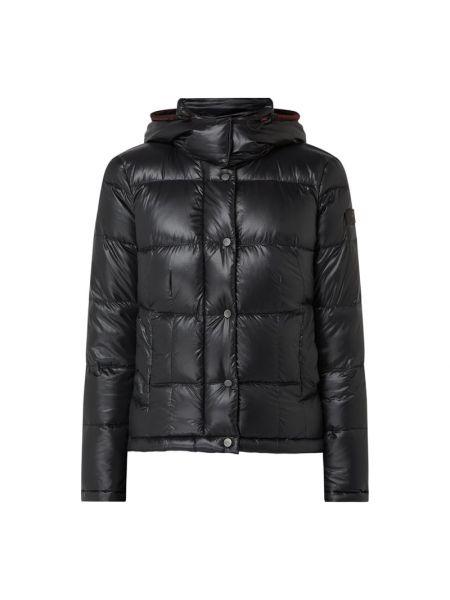 Czarna kurtka z kapturem Peuterey