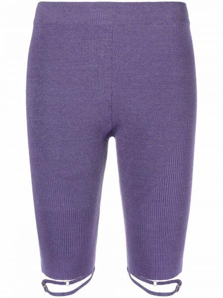 Фиолетовые шорты из эластана Jacquemus