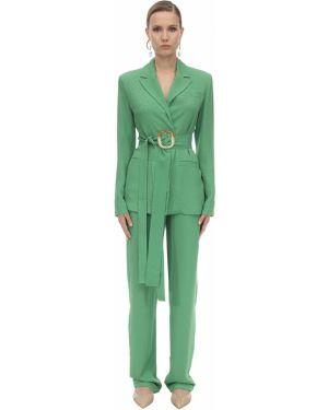 Зеленый пиджак с поясом с лацканами Matériel