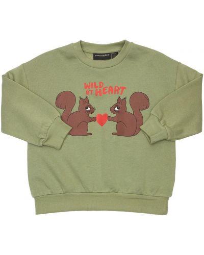 Хлопковый свитшот - зеленый Mini Rodini