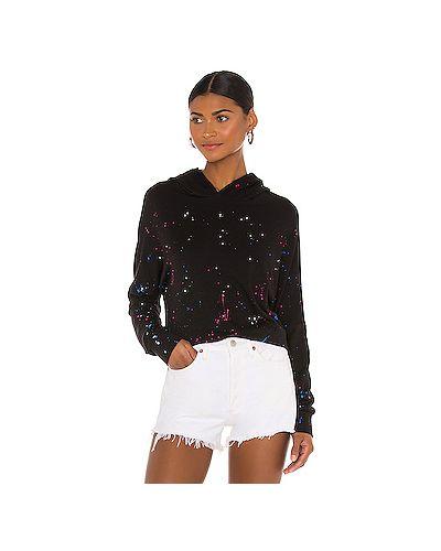 Шелковый черный свитер с капюшоном Michael Lauren