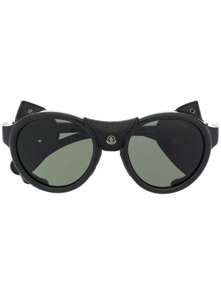Муслиновые черные солнцезащитные очки Moncler Eyewear