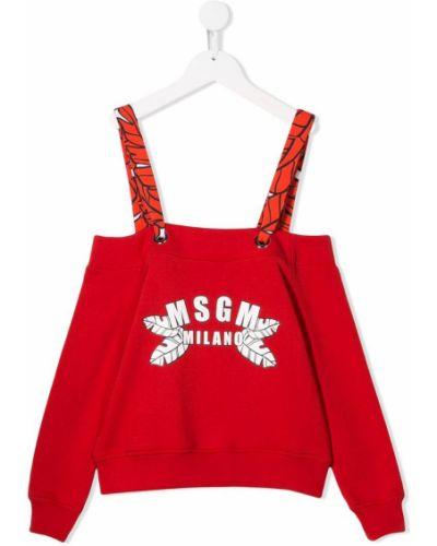 Блуза красная Msgm Kids